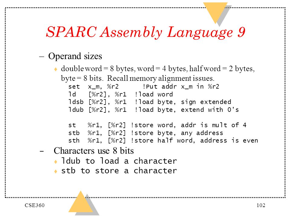 SPARC Assembly Language 9