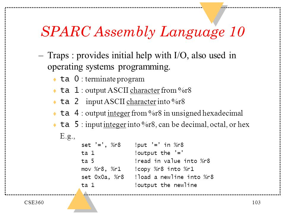 SPARC Assembly Language 10