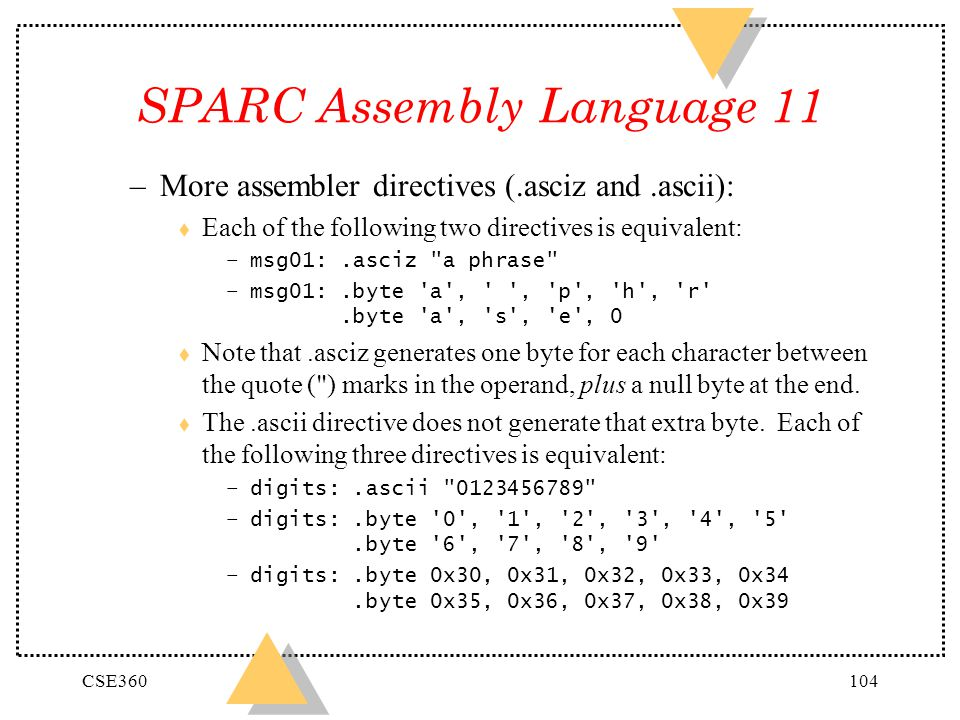 SPARC Assembly Language 11