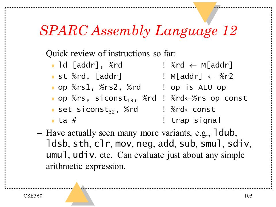 SPARC Assembly Language 12