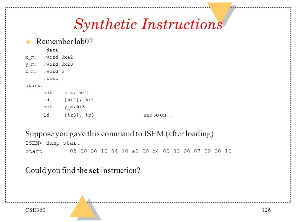 Synthetic Instructions