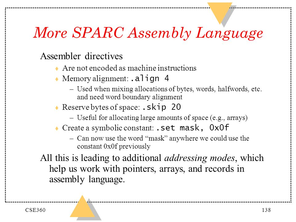 More SPARC Assembly Language