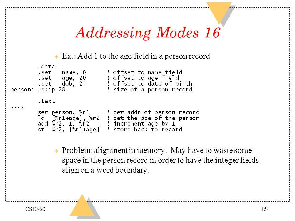 Addressing Modes 16 +0 N +4 +8 +C +10 -- +14 A +18 D
