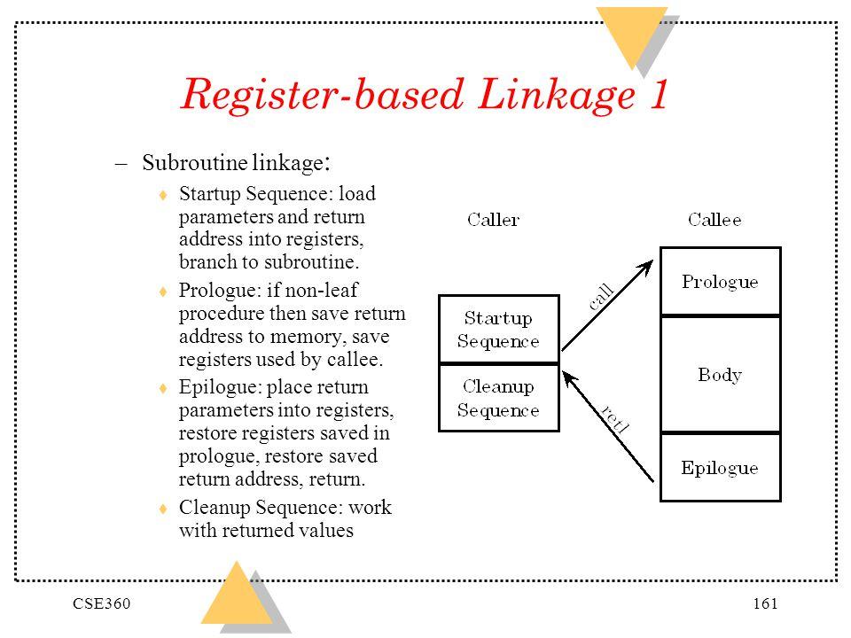 Register-based Linkage 1