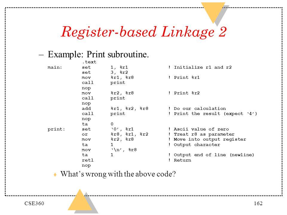 Register-based Linkage 2