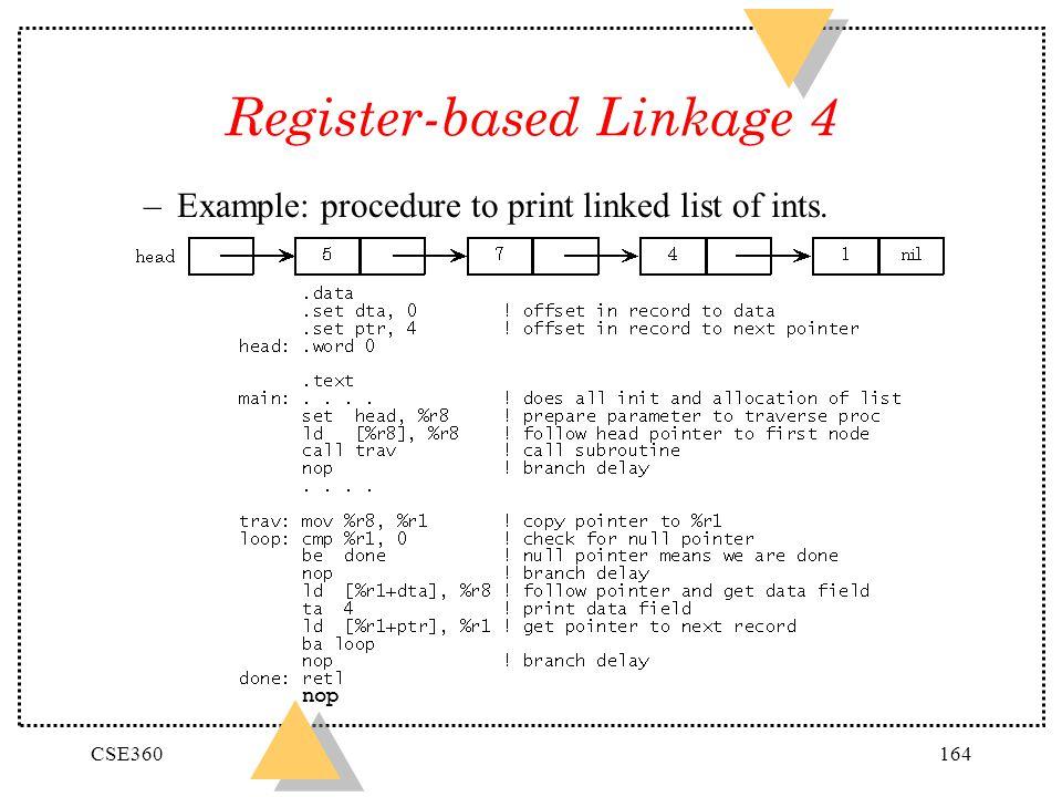 Register-based Linkage 4