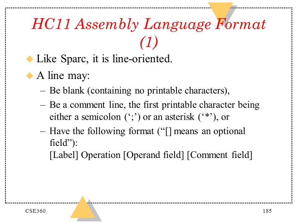 HC11 Assembly Language Format (1)