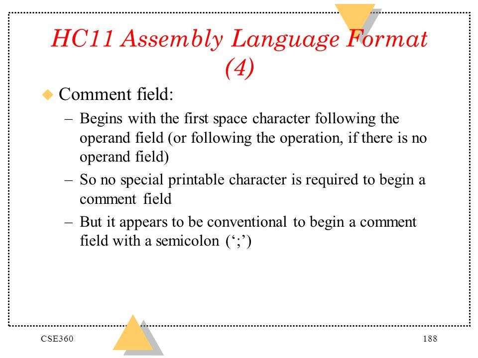 HC11 Assembly Language Format (4)