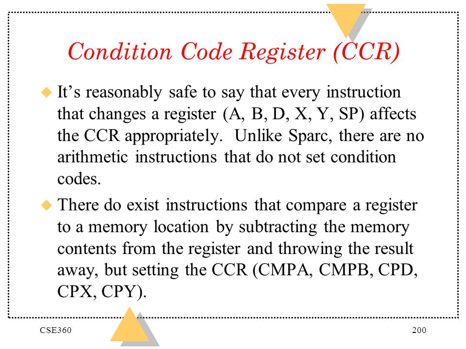 Condition Code Register (CCR)