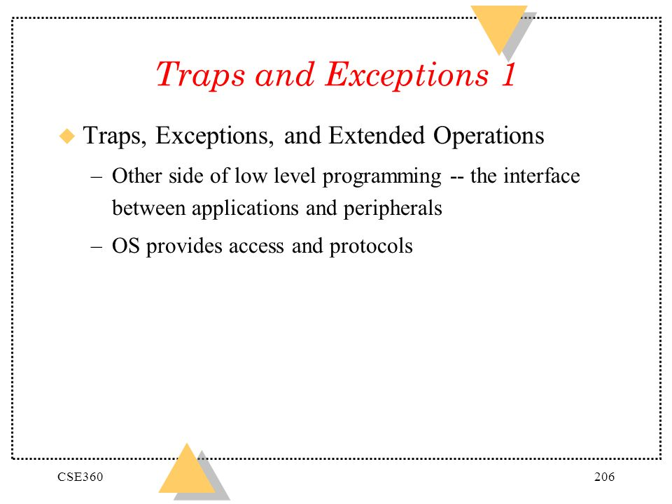 Traps and Exceptions 1 Traps, Exceptions, and Extended Operations