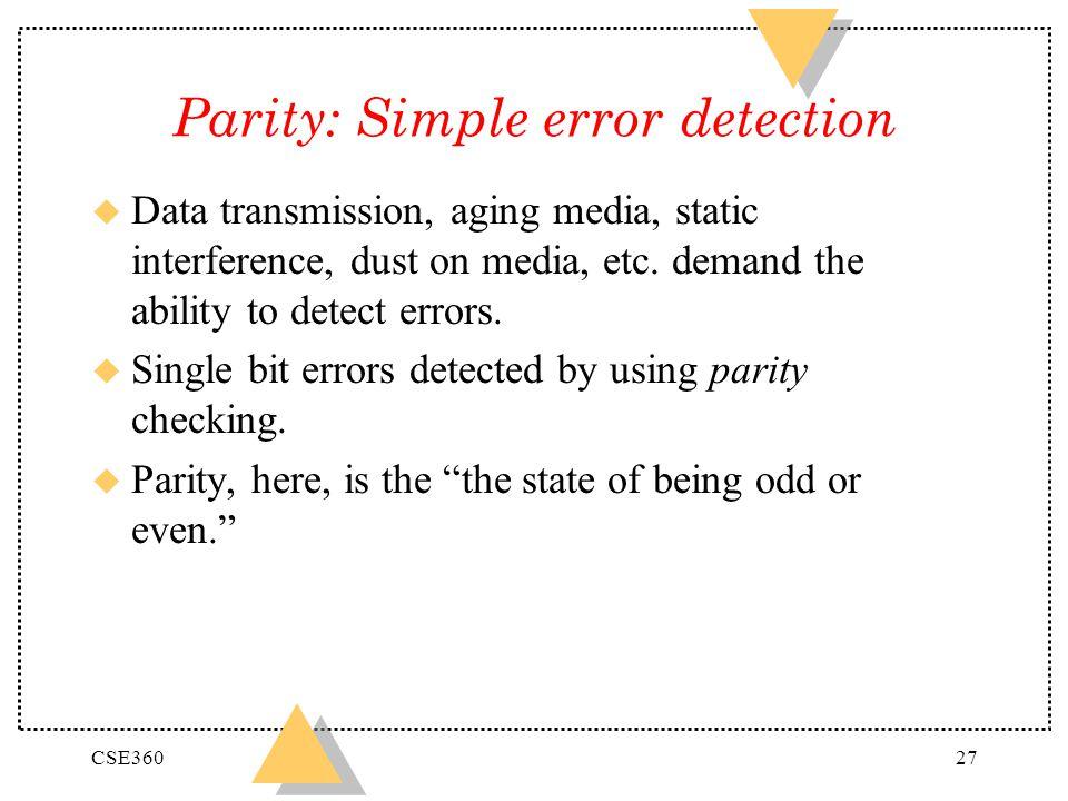 Parity: Simple error detection