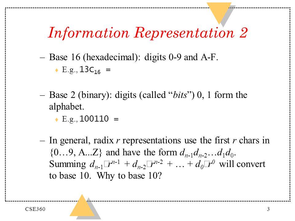 Information Representation 2
