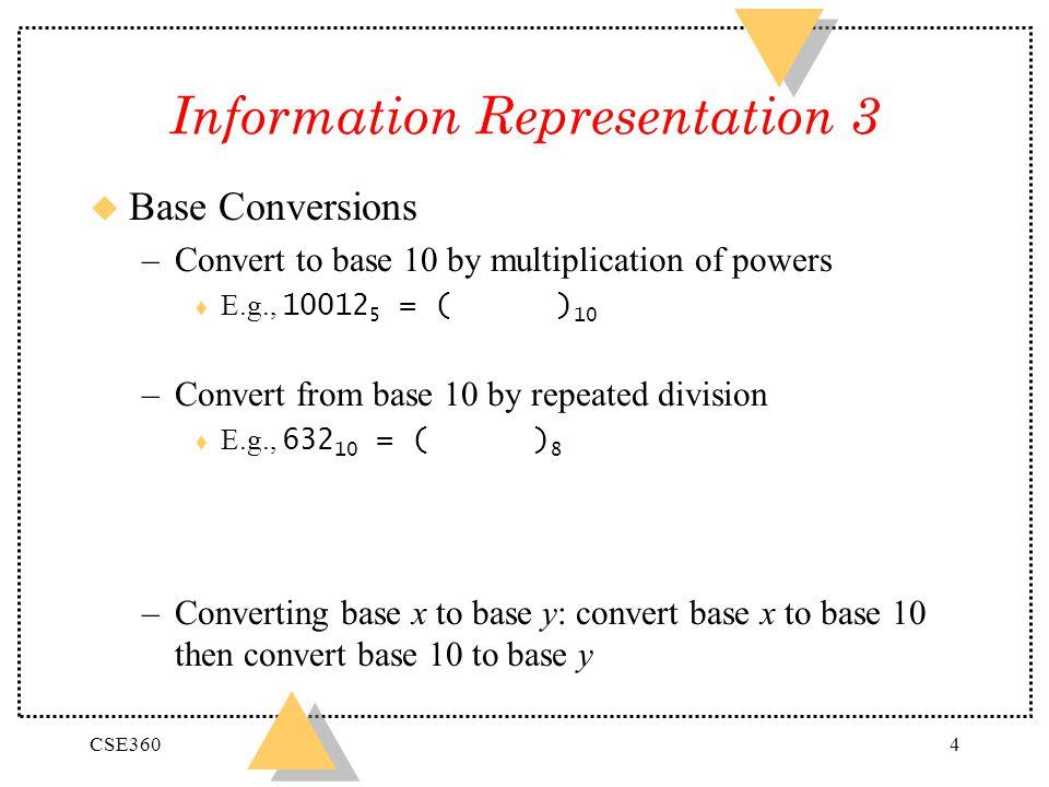 Information Representation 3