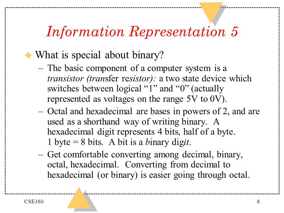 Information Representation 5