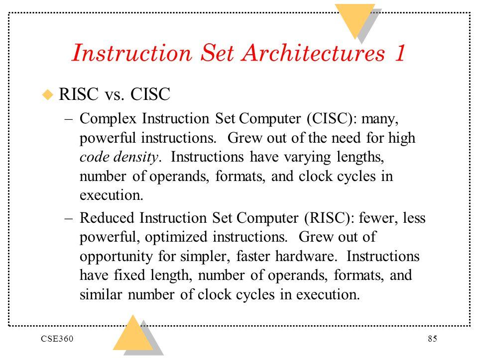 Instruction Set Architectures 1