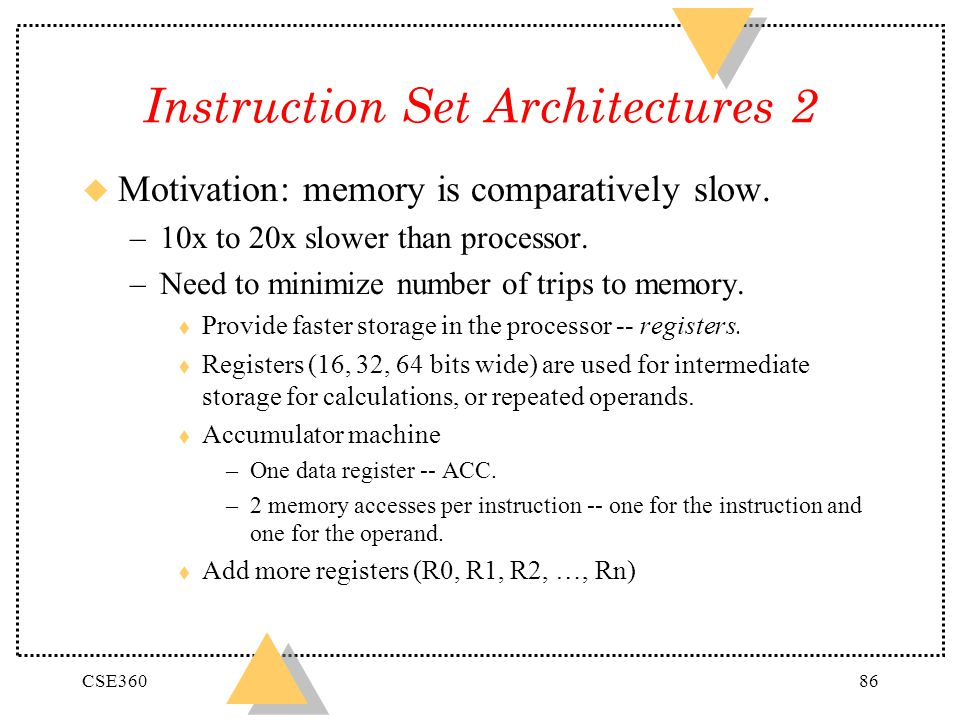 Instruction Set Architectures 2