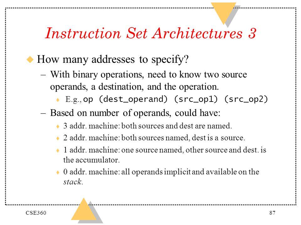 Instruction Set Architectures 3