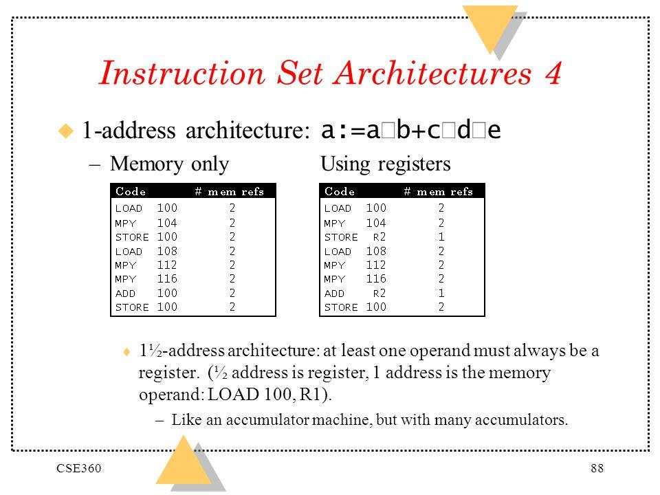 Instruction Set Architectures 4