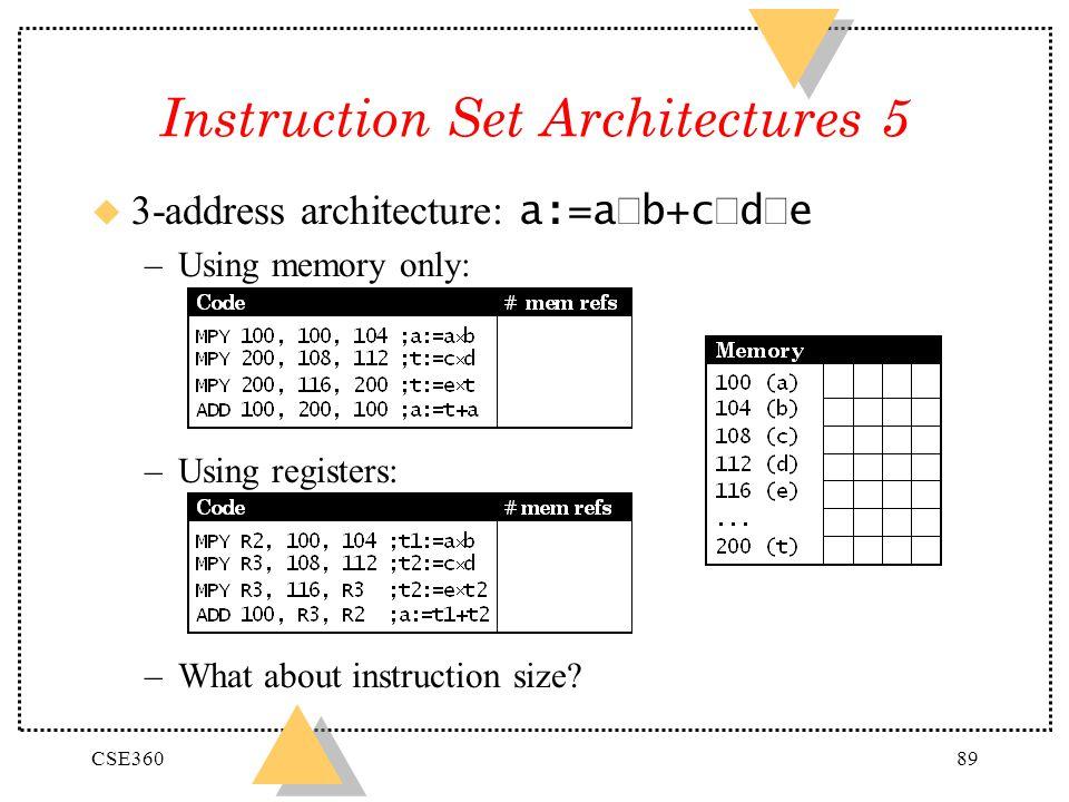 Instruction Set Architectures 5