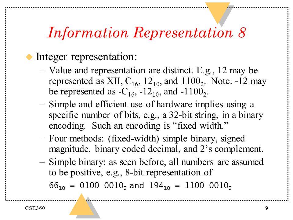 Information Representation 8