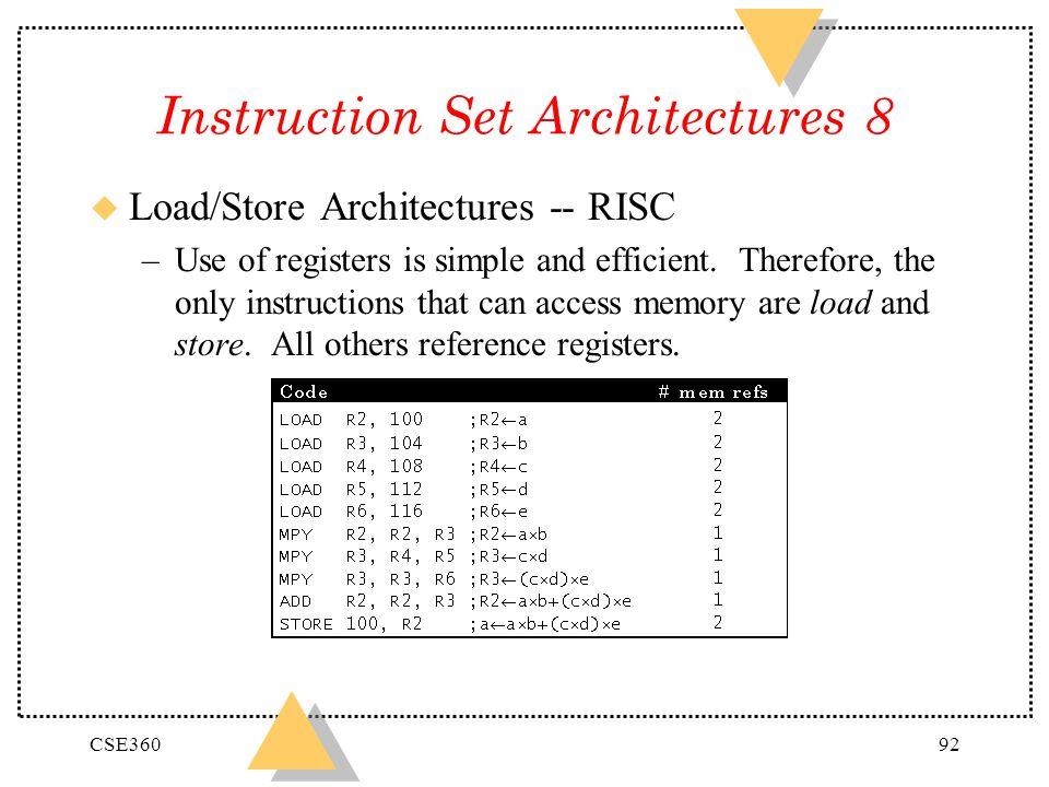 Instruction Set Architectures 8