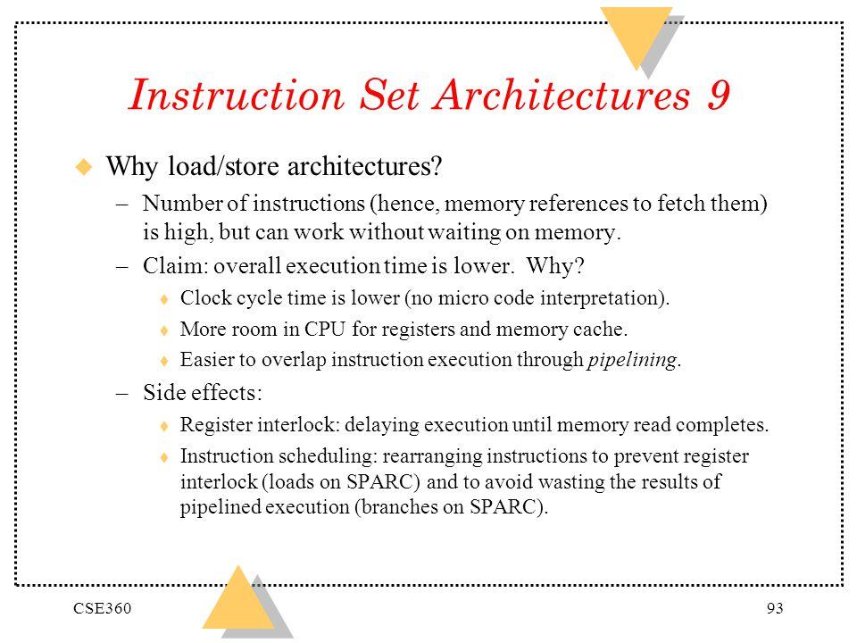 Instruction Set Architectures 9