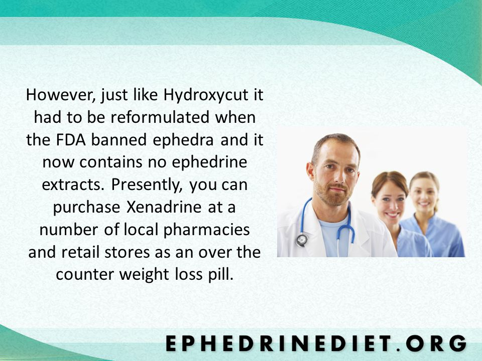 However, just like Hydroxycut it had to be reformulated when the FDA banned ephedra and it now contains no ephedrine extracts.