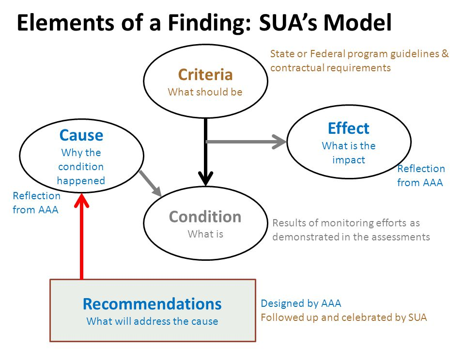 Elements of a Finding: SUA's Model