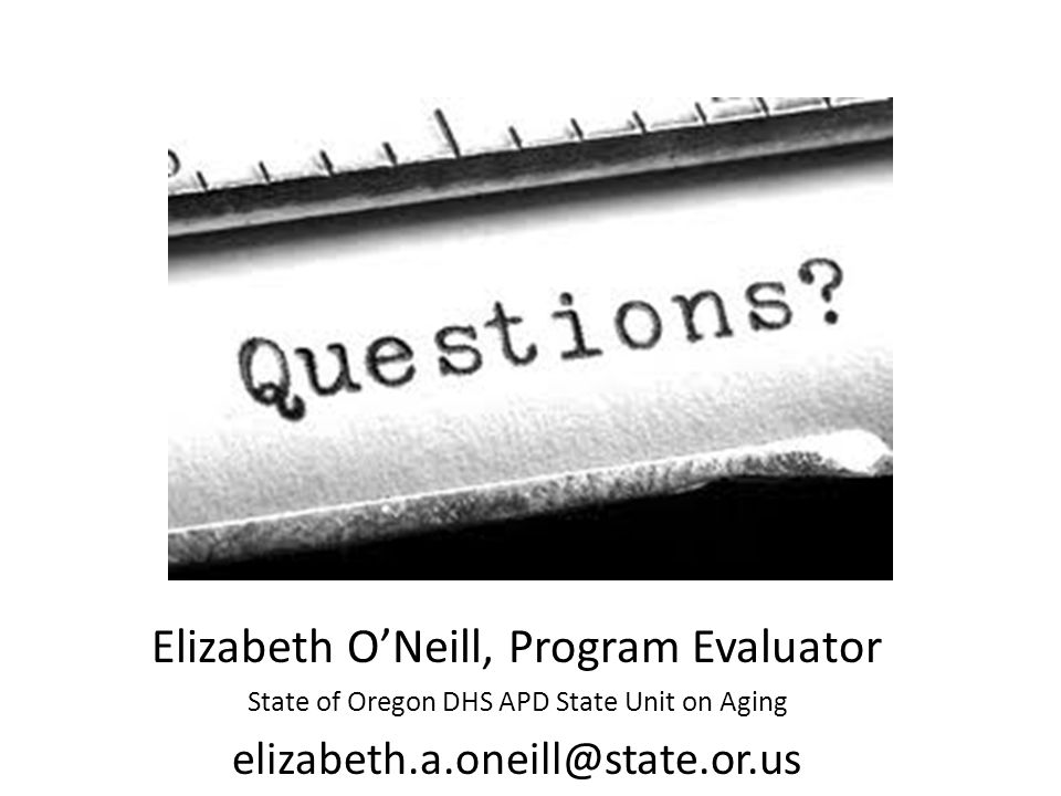 Elizabeth O'Neill, Program Evaluator