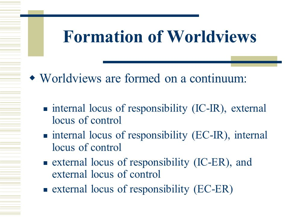 Formation of Worldviews