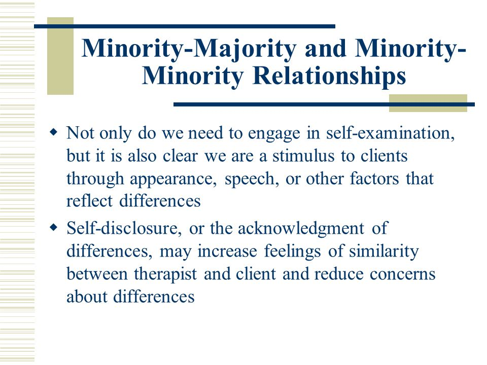 Minority-Majority and Minority-Minority Relationships