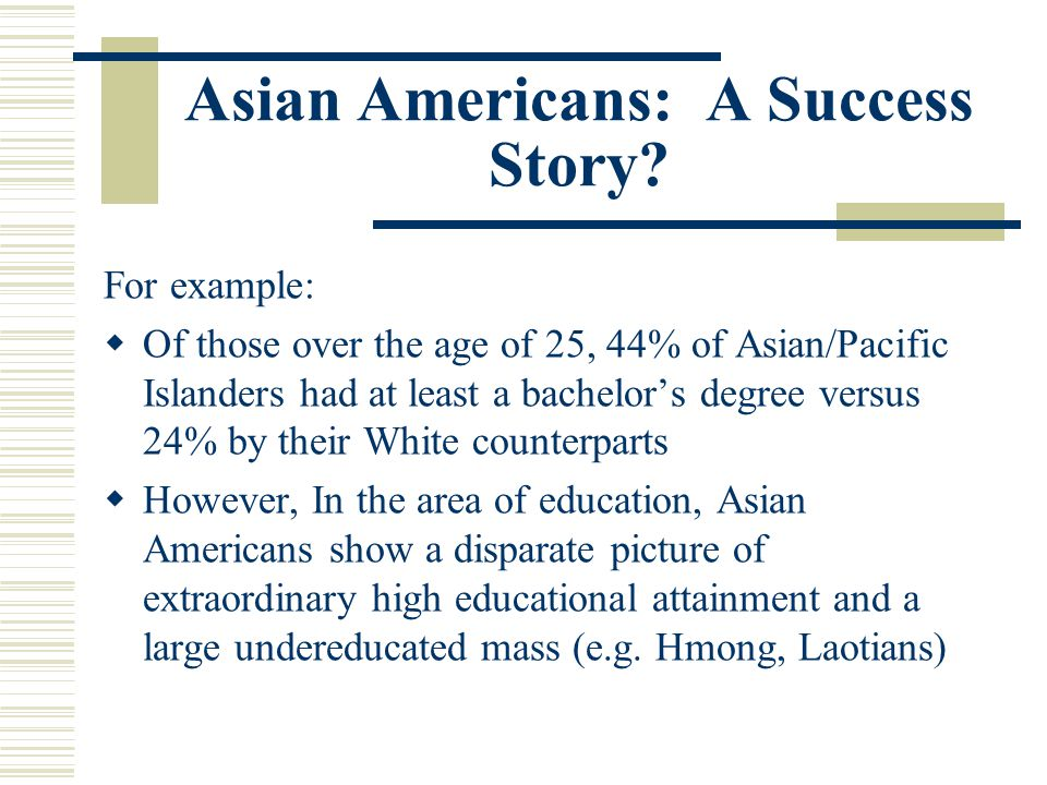 Asian Americans: A Success Story