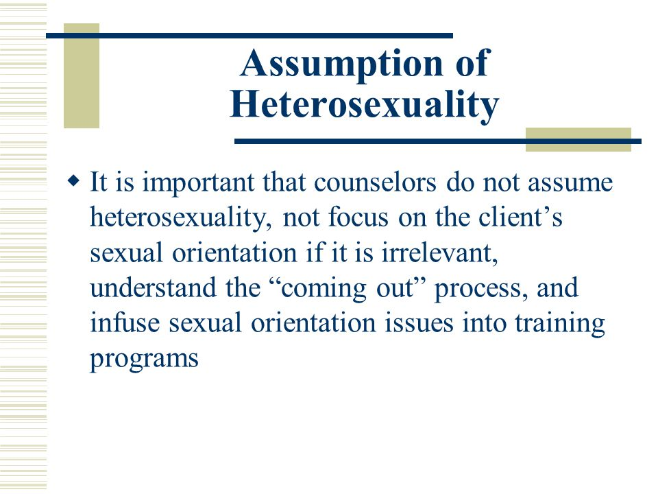 Assumption of Heterosexuality
