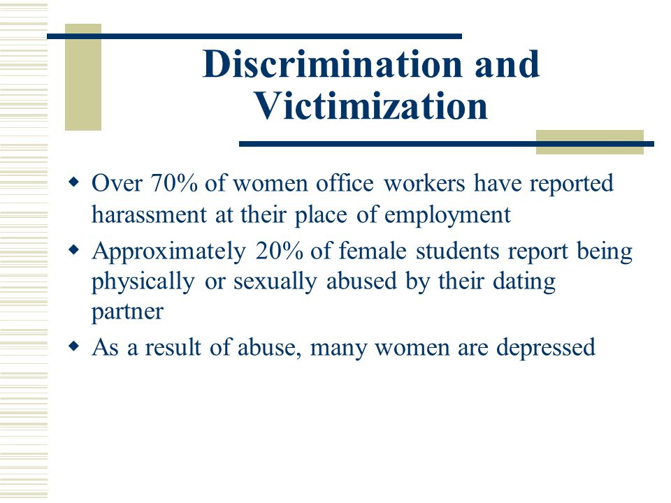 Discrimination and Victimization