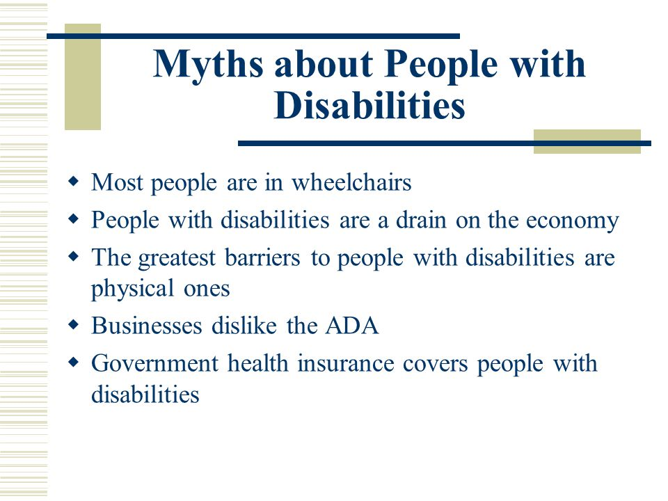 Myths about People with Disabilities