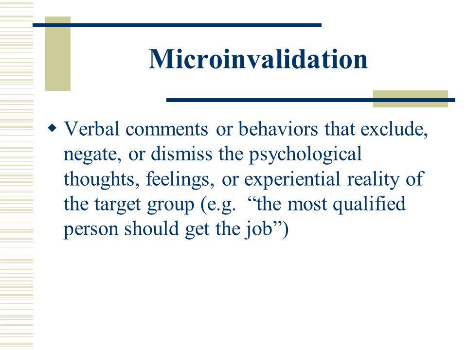 Microinvalidation
