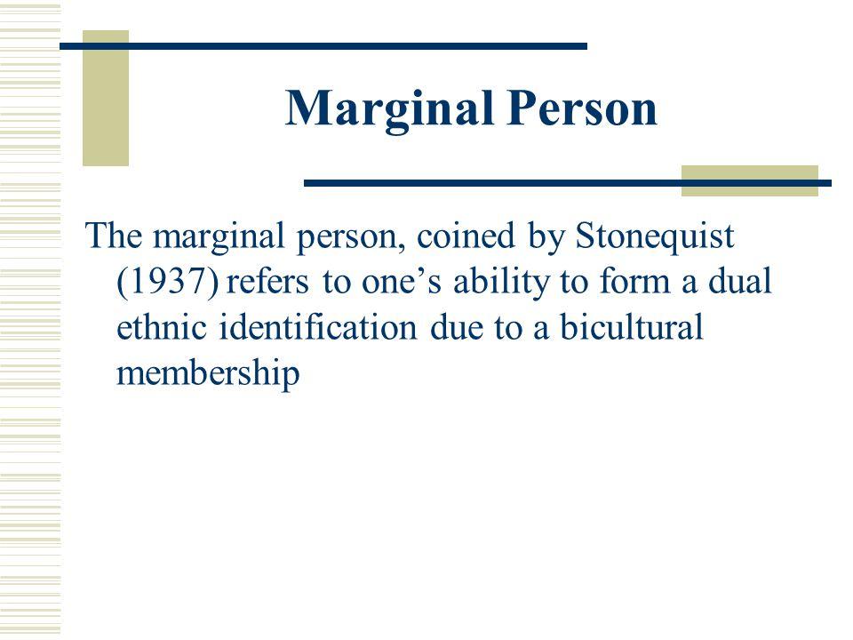 Marginal Person
