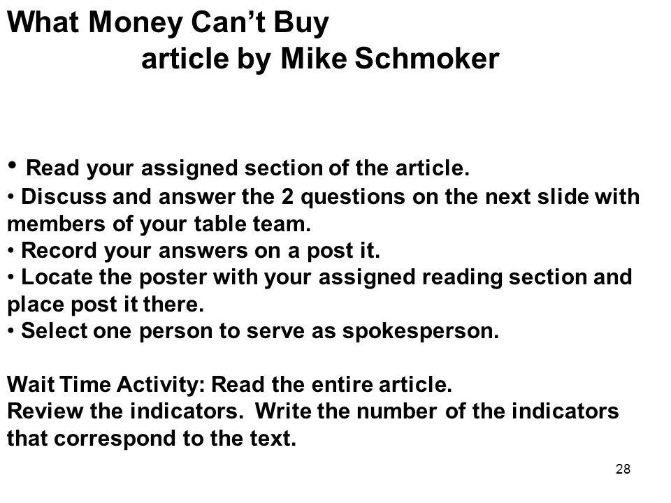article by Mike Schmoker