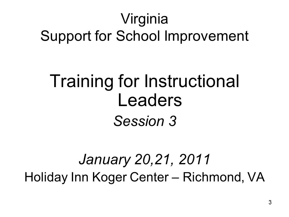 Virginia Support for School Improvement