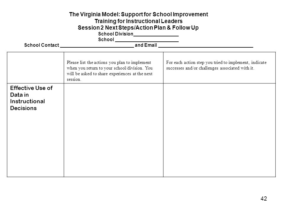 The Virginia Model: Support for School Improvement
