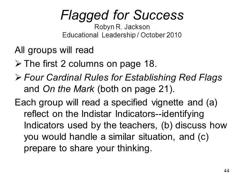 Flagged for Success Robyn R