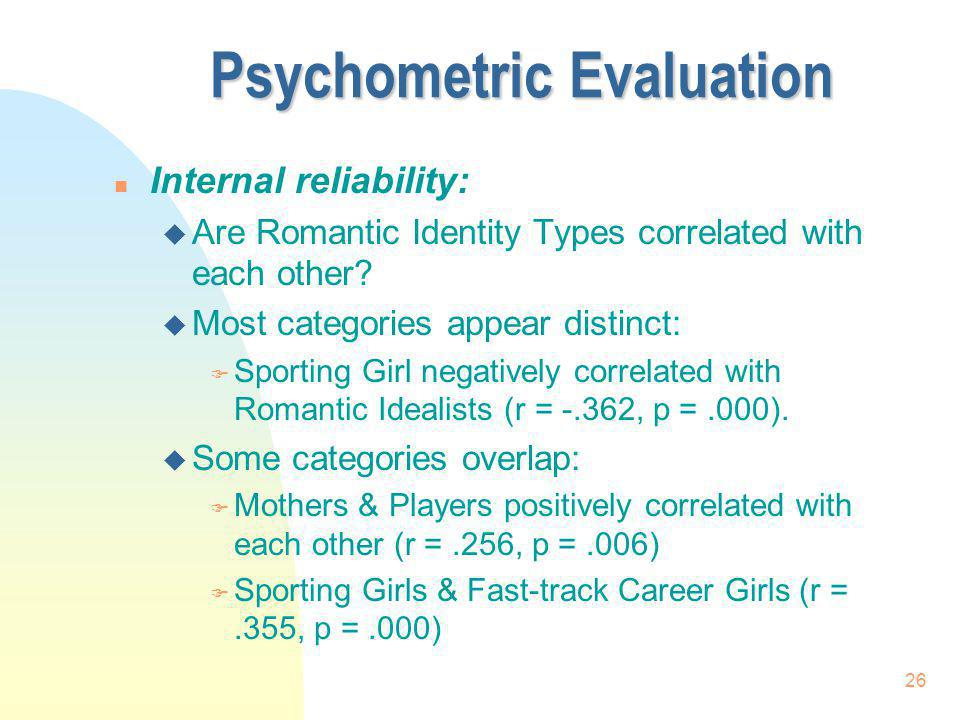 Psychometric Evaluation