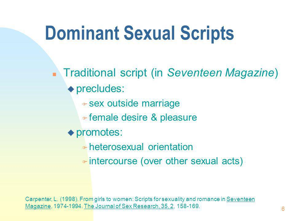 Dominant Sexual Scripts