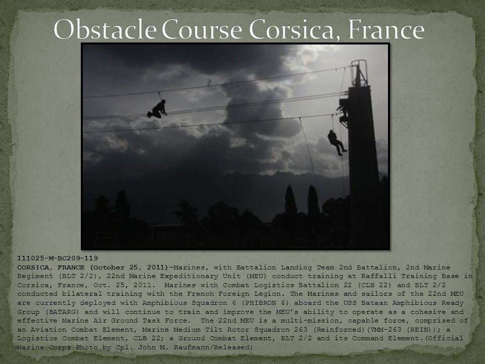 Obstacle Course Corsica, France