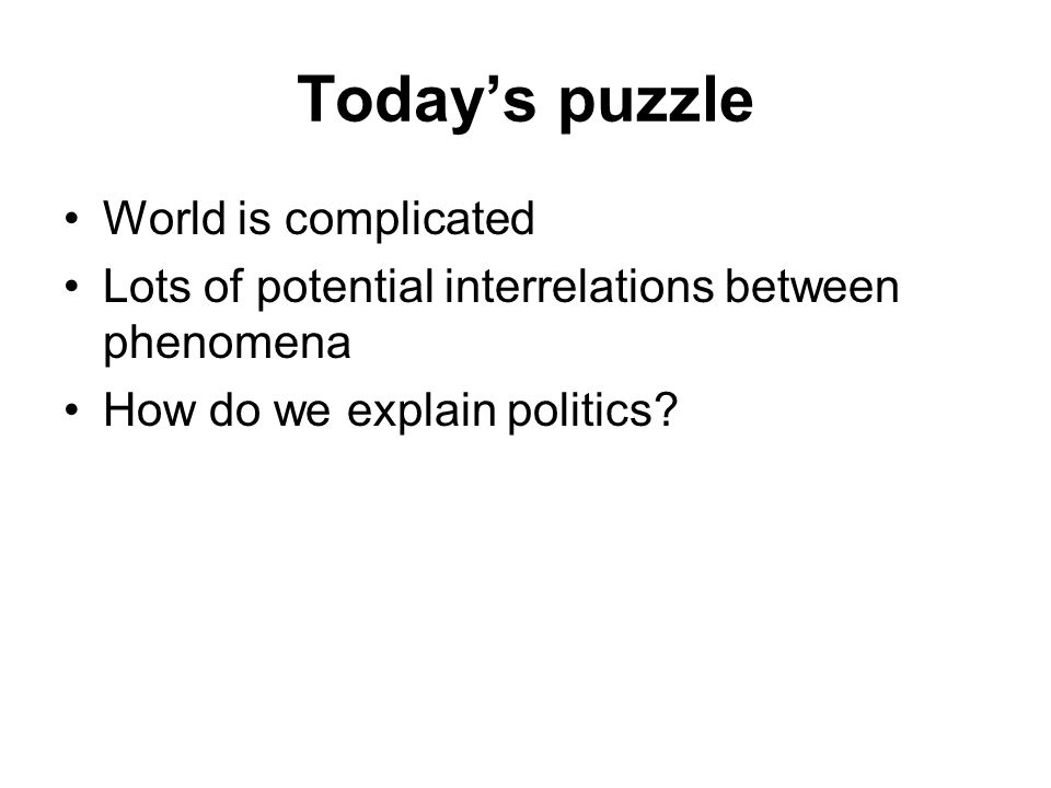 Today's puzzle World is complicated