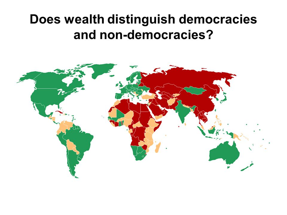 Does wealth distinguish democracies and non-democracies