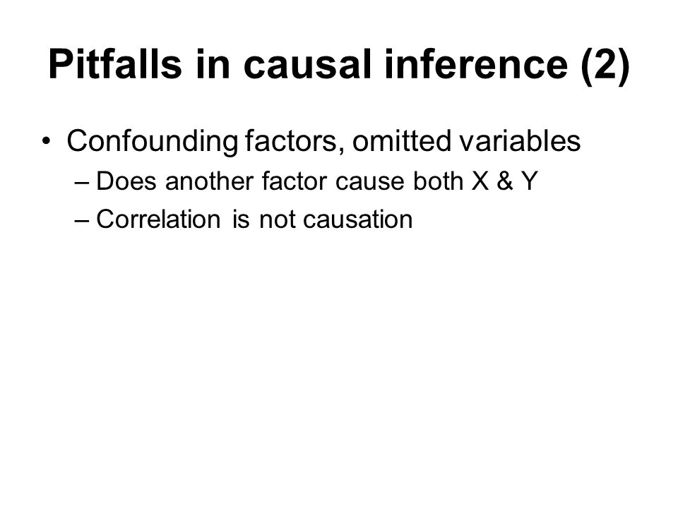 Pitfalls in causal inference (2)