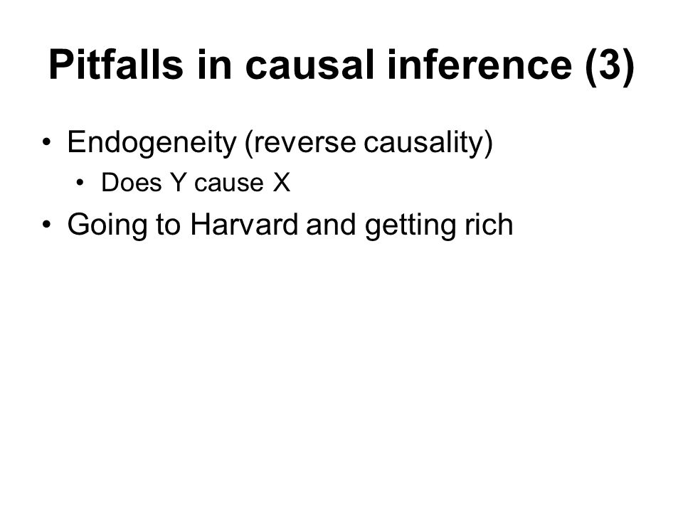 Pitfalls in causal inference (3)