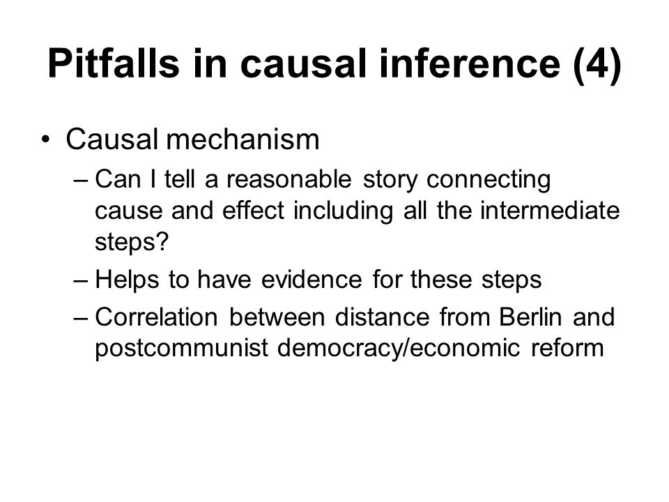 Pitfalls in causal inference (4)