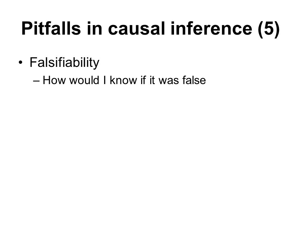 Pitfalls in causal inference (5)